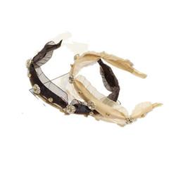 Corée du Sud est porte tempérament simple atmosphère gaze soleil fleur eau percer cheveux cerceau cheveux ornements dentelle eau perceuse tête cerceau ? partir de fabricateur