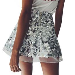 2019 pailletten-shorts für weihnachtsfeier Gold Sequin Mesh Mini Röcke Womens Weihnachten Chic High Waist Rock Reißverschluss beiläufige kurze Party Beach Black Skirt Assk20005 rabatt pailletten-shorts für weihnachtsfeier