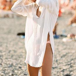 copertine classiche di caramelle Sconti Costume da bagno in cotone bianco Coprispalle Coprire Robe Plage Longue Beach Coprire Vestidos Praia Beachwear 2019 Bikini