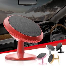Hohe gläser online-Neue ankunft Kleine szie handy stand halter 360 grad drehende autotelefonhalter magnetische hohe gläser aluminium handyhalter