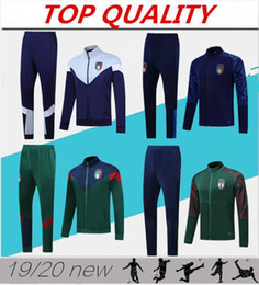 Sportswear italia on-line-2019 2020 Itália agasalho completo de treino de futebol Zipper revestimento futebol survêtement 19 20 Itália abbigliamento sportivo sportswear