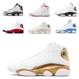 Недорогая обувь для девочек онлайн-Nike Air Jordan 13 Дешевые Jumpman 13 XIII баскетбольные кроссовки 13s Черный Белый Красный Синий Мальчики Девочки Молодежь Дети air flight aj13 кроссовки сапоги J13 на продажу