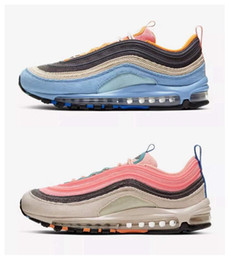 2020 Sean Wotherspoon 97s VF SW Blue Pink Corduroy Mens Running Shoes Low Trainers Undefeated Men Women Fashion designer Sneakers