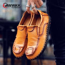 zapatos de deporte hechos a mano Rebajas WWKK Zapatillas de deporte con estilo de otoño para hombre Zapatillas de deporte al aire libre Trekking Deporte transpirable Hombres cómodos Zapatos de senderismo hechos a mano Entrenadores