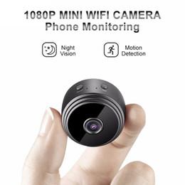 Videocamera A9 mini macchina fotografica senza fili di WiFi 1080P HD Piccolo Nanny Cam visione notturna Motion Activated Covert Security Magnet piccole telecamere da registratore vocale a comando remoto fornitori