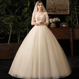 Abito da sposa grils online-fashion new come style per grils stock item Champagne Wedding Garment Summer Bride Sposa da sposa