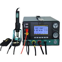 Arma de eletricidade on-line-DES 5 em 1 multi-função de reparo Estação de solda de solda Eletricidade Heat Gun Estações de Retrabalho Ferro Pen ajustável