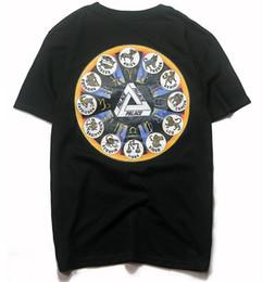 camiseta del monopatín del palacio Rebajas Moda palacios camiseta para hombre clásico triángulo impresión diseñador de la camiseta calle hip hop monopatín blanco del negro camisetas de manga corta de gran tamaño