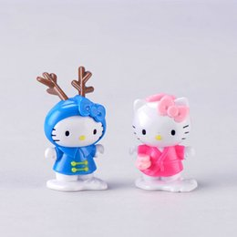 Blue Pink Kitty Cat Cartoon Doll Accessory Miniature Fairy Garden Micro Paesaggio Terrario Vaso da fiori Accessorio Ins Gift Craft Materiale fai da te da