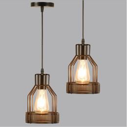 Vintage Pendelleuchte Industrielle Hängelampe LED Retro Deckenleuchte Metallabdeckung Leuchte Wohnkultur Kronleuchter Leuchte von Fabrikanten