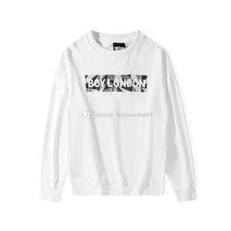 Menino branco londres suéter on-line-Menino Londres Mens Hoodies Designer de Luxo Mens alta qualidade Moletons Homens Mulheres Winter And Fall Casual Pullover Black White