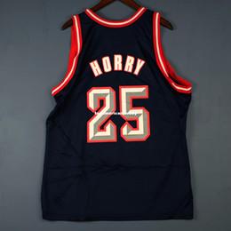 100% genäht Robert Horry Champion genäht Jersey # 25 olajuwon Herren Weste Größe XS-6XL Basketball Trikots von Fabrikanten