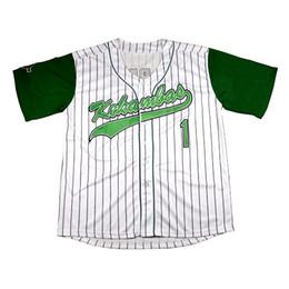 Jarius G-bebê Evans # 1 Kekambas filme Baseball Jersey inclui Patch costurado Sewn verde Hardball inclui ARCHA Patch bordado Jerseys de Fornecedores de ouro tim
