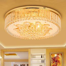 Argentina Nuevo diseño de arañas de cristal iluminaciones champagne oro redondo araña dormitorio sala de estar lámparas de techo LED luces de cristal europeo Suministro
