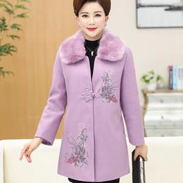 ec13b4e3b841 Mulheres de meia-idade além de algodão grosso casaco de lã grande tamanho  mãe vestido P201722773