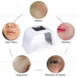 Luz led para el tratamiento de la piel online-Terapia de luz LED Fotodinámica Máscara facial de fotones Láser Máquina de cuidado de la piel Tratamiento para el acné Removedor de arrugas Cara Instrumento de belleza