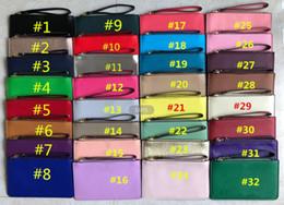 bolsas de couro bolsas para meninas Desconto Mulheres KS PU Carteira De Couro Pulseira Zipper Bolsa Clutch Bag Outdoor Travel Sports Cartão de Crédito Sacos de Dinheiro Meninas Bolsa Moeda Bolsa 32 Cores