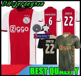 19 20 DE JONG TADIC 2018 2019 2020 camiseta de fútbol de AJAX FC DOLBERG HUNTELAAR ZIYECH DE LIGT CRUYFF camiseta de fútbol de campeones desde fabricantes