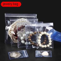 2019 sacs en plastique épais 50pcs / 100pcs PVC sac auto-scellant en plastique Zip Lock sac épais Clear Ziplock boucles d'oreilles bijoux emballage sacs de stockage promotion sacs en plastique épais
