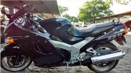 Carenados de ninja 93 online-KM23 moto para Kawasaki Ninja ZZR1100 kit de carenado 1993-2003 ZX11 ZZR 1100 93 01 03 Set de carenados + regalos