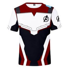Magliette uomo in ferro online-Avengers 4 Endgame maglietta Cosplay Quantum Realm T-Shirt Uomo Donna Supereroe Iron man Thanos 3D Stampato Casual Tops Tees
