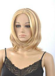 Nuevas pelucas doradas online-Peluca envío gratis peluca de moda nuevo encanto corto de las mujeres de oro natural pelucas llenas