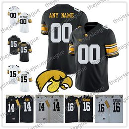 025a7d19153 Iowa Hawkeyes Custom Any Name Any Number White Black Personalized Stitched  #4 Nate Stanley 14 Desmond King NCAA College Football Jerseys