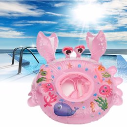 Lovely Crab Shape Kds Baby Inflatable Swimming Seat Swimming Swim Float Ring Summer Water Sport Inflatable Pool Water Toy von Fabrikanten