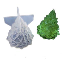 Argentina DIY 3D Árbol de navidad Molde de silicona Molde de jabón Molde de silicona flexible para el jabón hecho a mano Arte de la vela Artesanía Herramientas Suministro