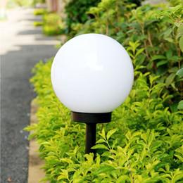 Im freien runde glühbirnen online-LED Solar Power Outdoor Gartenweg Hofball Licht Lampe Rasen Straße Patio Garten Hof Rasen Straße Boden Licht LED runde Lampe Licht