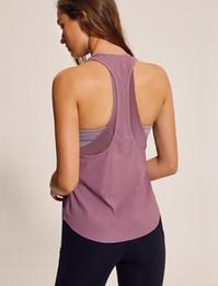 Débardeurs lâches en Ligne-2019 New Loose Fit Racerback Running Sport Gilet Femmes Séchage Rapide Yoga Fitness Sans Manches T-shirts Athlétique Débardeurs