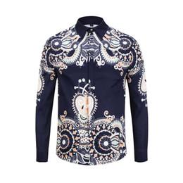 9697be3f1d5 2019 New Luxury fashion men Casual shirts colour 3D Floral printed long  sleeve mens dress shirts slim fit Silk cotton medusa shirts M-3XL