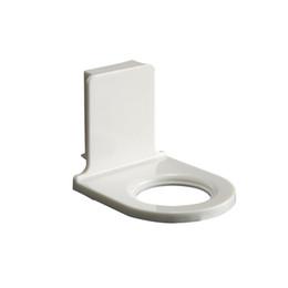 Pareti doccia in plastica online-Cremagliera autoadesiva di plastica di stoccaggio della casa dello scaffale dello shampoo del gel della doccia del supporto della bottiglia del bagno fissato al muro 4pcs / lot
