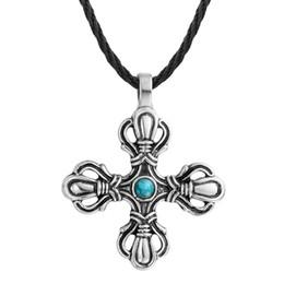 2019 hermoso colgante de cruz Noruego minimalista hermoso collar cruzado colgante cristiano eslavo miembro collar eslavo hermoso colgante de cruz baratos