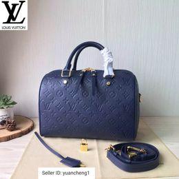 DWNJ Yangzizhi1 M40753 Azul Speedy 30 Serie bolso bolsos Bolsas Asa Superior Bolsa de hombro Cruz de la tarde del bolso de totalizadores Cuerpo desde fabricantes