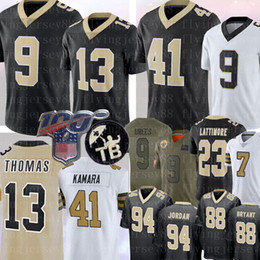 Brees camisa de futebol on-line-9 Drew Brees 13 Michael Thomas 41 Alvin Kamara Jersey 23 Marshon Lattimore Cameron Taysom Hill Dez Futebol