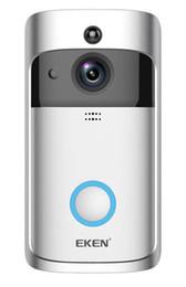 Intercomunicadores de porta on-line-1 PCS EKEN V5 Inteligente Câmera de Vídeo Campainha Wi-fi Visual Intercom Com Chime Night vision IP Porta Bell Câmera de Segurança Em Casa Sem Fio