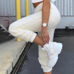 LADY Autunno Casual Misto Lana LANTERNA Fashion Pantaloni Harem Pants Loose Gamba Larga