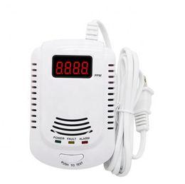 2019 sistemas de alarma de gas detector de 5setsGAS Con pantalla LCD En Gas voz humana advertencia del sensor de gas LPG detector de fugas de alarma automatización natural para la cocina del sistema de alarma rebajas sistemas de alarma de gas