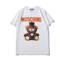 swing uomini Sconti 19ss Summer New Moschin O Tee in cotone a maniche corte traspirante Uomo Donna Moschinos Swing Bear casual all'aperto Streetwear T-shirt