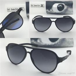 cr plastics Desconto Alemanha designer homens marca óculos de sol IC gefrome tranon ultra-light sem memória do parafuso da liga de óculos removíveis pilotos de plástico quadro