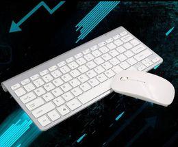 clavier pour apple tv Promotion 2019 NOUVEAU clavier sans fil combo 2.4G Clavier ultra-mince souris sans fil pour Apple Keyboard Style Mac Win 7/8/10 Tv Box Gratuit
