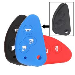 Llave de coche cubierta de goma online-Jingyuqin Para Alfa Romeo 147 166 156 JTD TS GT Flip Plegable Clave de goma de silicona Funda de la llave del coche