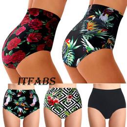 2019 damas pantalones cortos de natación Meihuida Brand Shorts de baño de cintura alta Floral Women Sexy Swimsuit Ladies Casual Bottoms Summer Bathing Shorts Venta caliente rebajas damas pantalones cortos de natación
