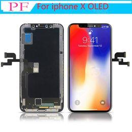 écran de remplacement lcd Promotion Grade A +++ OLED TFT LCD pour iPhone X 3D à écran tactile Digitizer pleine Assemblée LCD de remplacement BLA point mort