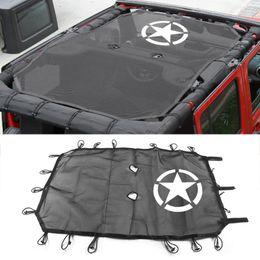 vw гольф-крыло Скидка Оптовая стайлинга автомобилей навес крыши для Jeep Wrangler неограниченное JK аксессуары 4 двери тень обложка УФ-защита черный