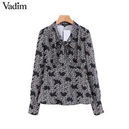 3da8d4af5a3 Vadim women bow tie v neck blouse heart pattern print long sleeve zipper shirt  vintage female casual chic tops blusas LA615 chic v neck blouse on sale