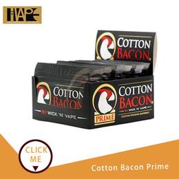Canada Coton Bacon Prime version Or organique pour le bricolage RDA RDTA RTA reconstruire fil Vape Atomiseurs de coton Bobine de chauffage Vaporisateurs à fil supplier coiled wires Offre