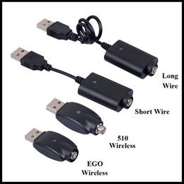Длинные шнуры зарядного устройства онлайн-E Сигарета USB-кабель для зарядки Длинный короткий провод Провод зарядки аккумулятора 510 EGO EVOD Беспроводной USB-кабель для зарядки
