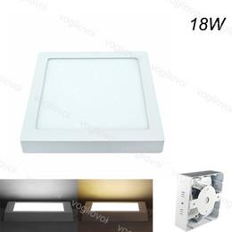 2019 seitenlichtmontage Quadratische Instrumententafel-Leuchte 18W Oberfläche brachte geführtes Licht 225x225mm Gesicht AC110V 220V Aluminium-PMMA-Acrylabdeckungs-Seite an, die SMD2835 warmes weißes DHL ausstrahlt günstig seitenlichtmontage
